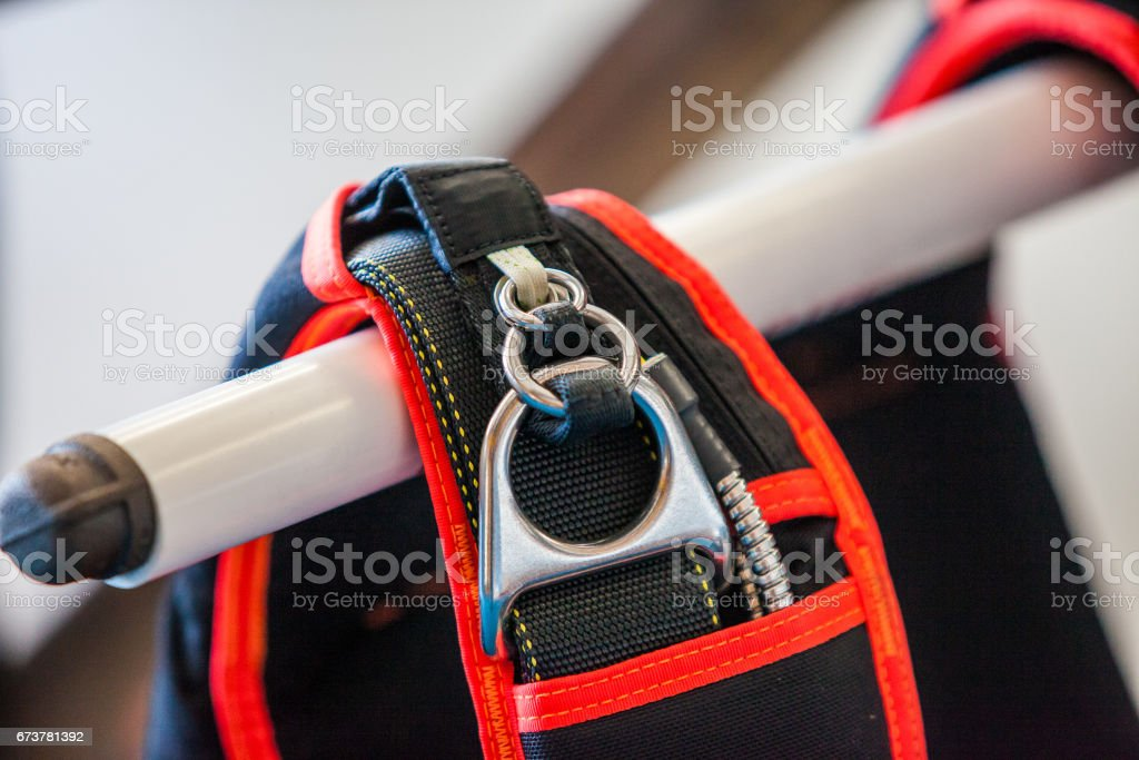 Skydiving rig stock photo