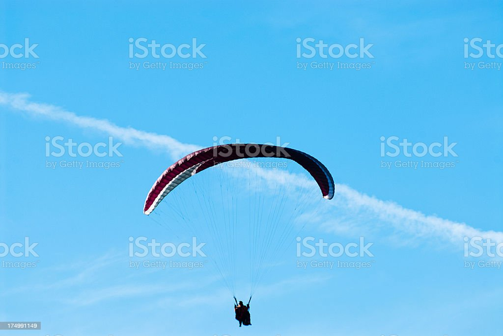 Skydiving Silhouette royalty-free stock photo