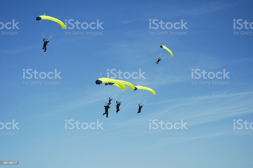 Skydiving Team 5 royalty-free stock photo