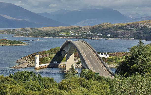 Skye Bridge (Isle of Skye, Scotland) Skye Bridge at Isle of Skye - Scotland isle of skye stock pictures, royalty-free photos & images