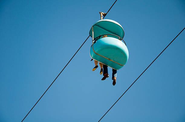 skyglider in santa cruz boardwalk - mark tantrum stock-fotos und bilder