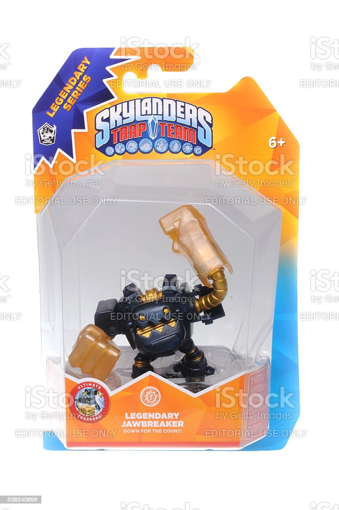 Skylanders Trap Team Legendary Jawbreaker stock photo