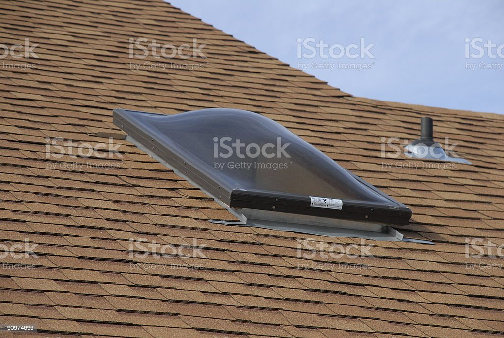 Skylight and New Roof stock photo