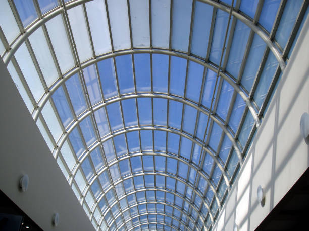 A Skylight at the Local Mall stock photo