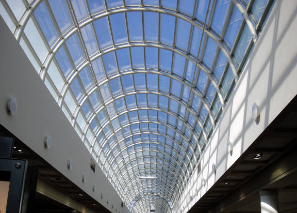 A Skylight at the Mall stock photo