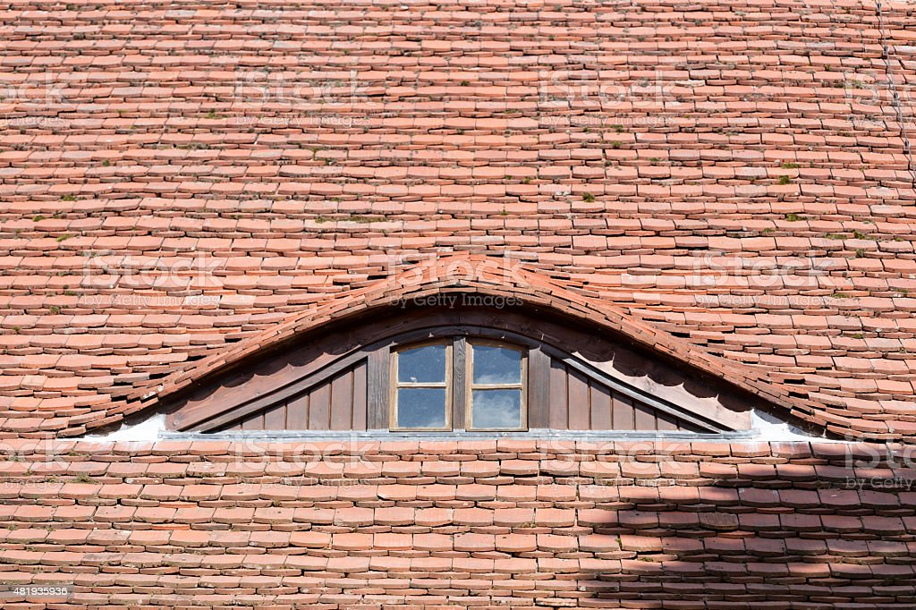 Dachfenster frontal stock photo