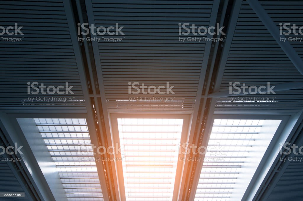 Skylight window - abstract architectural background stock photo