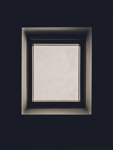 Skylight window stock photo