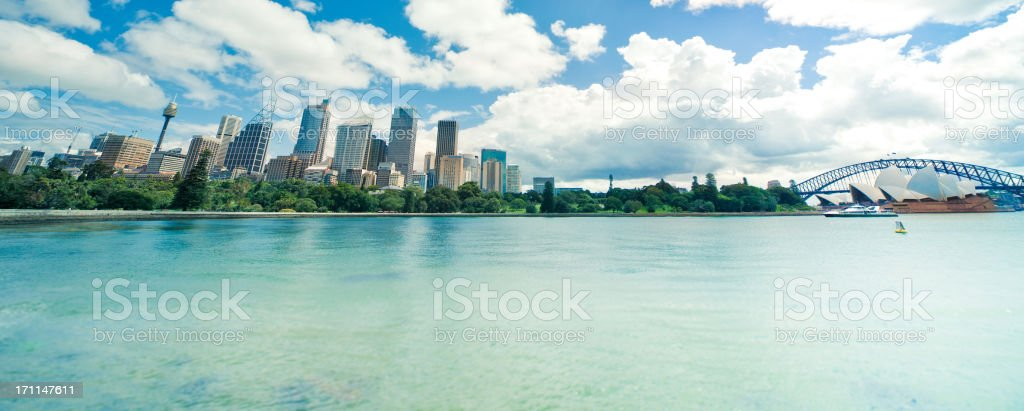 Skyline and Harbor in Sydney royalty-free stock photo