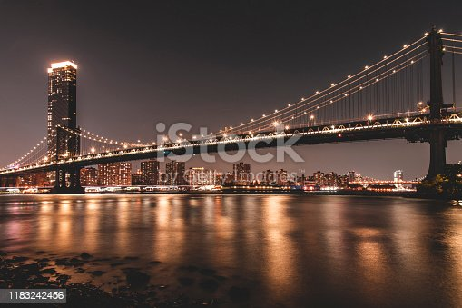 624265498 istock photo NYC skyline and Manhattan Bridge 1183242456