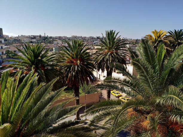 skyline, asmara, eritrea - eritrea stock photos and pictures