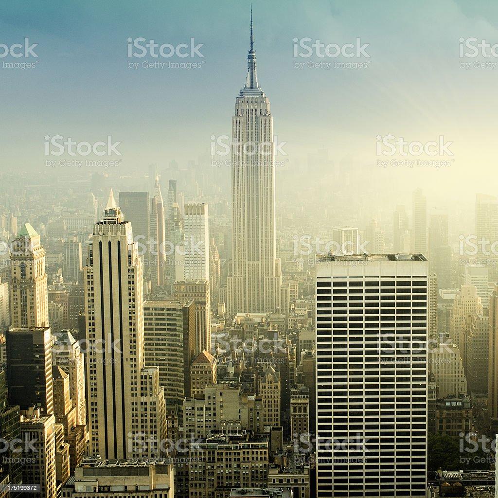 NYC Skyline at Dawn royalty-free stock photo