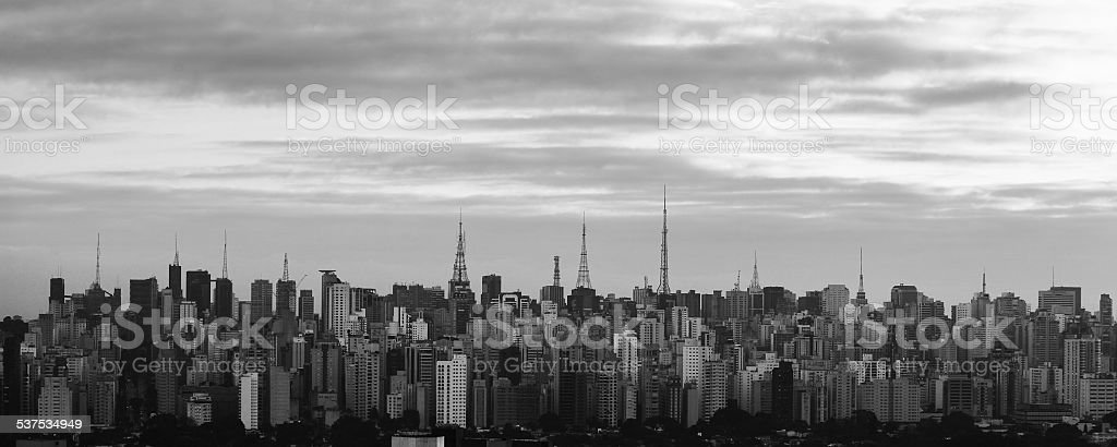 skyline Avenida Paulista stock photo