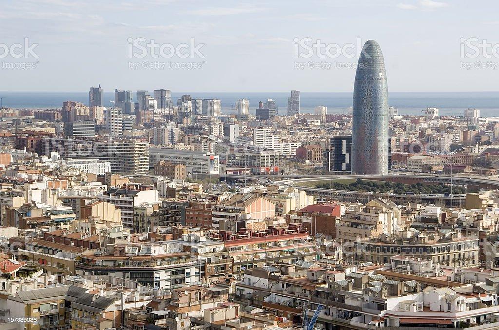 Skyline Barcelona Spain royalty-free stock photo