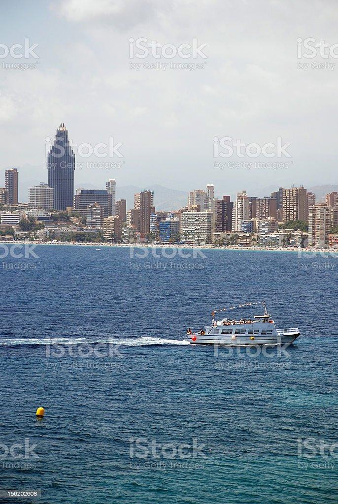 Skyline Benidorm royalty-free stock photo