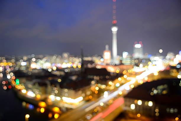 skyline von berlin - nikolaiviertel stock-fotos und bilder