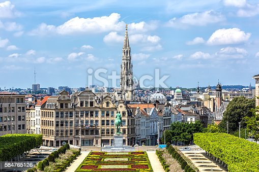 Skyline Brussels, Monts des Arts.