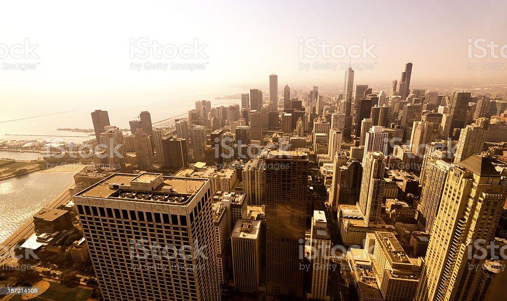 Skyline, Chicago stock photo