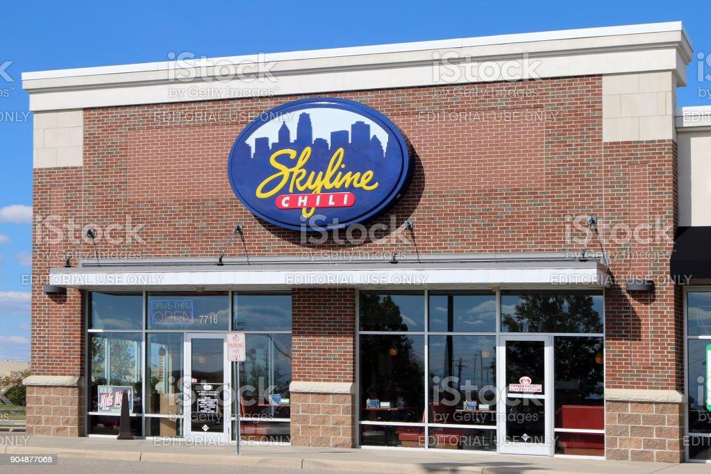Skyline Chili restaurant stock photo