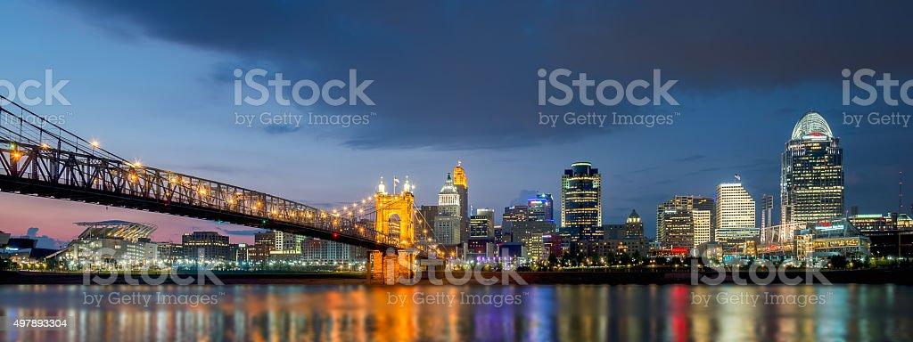 Skyline Cincinnati, Ohio stock photo