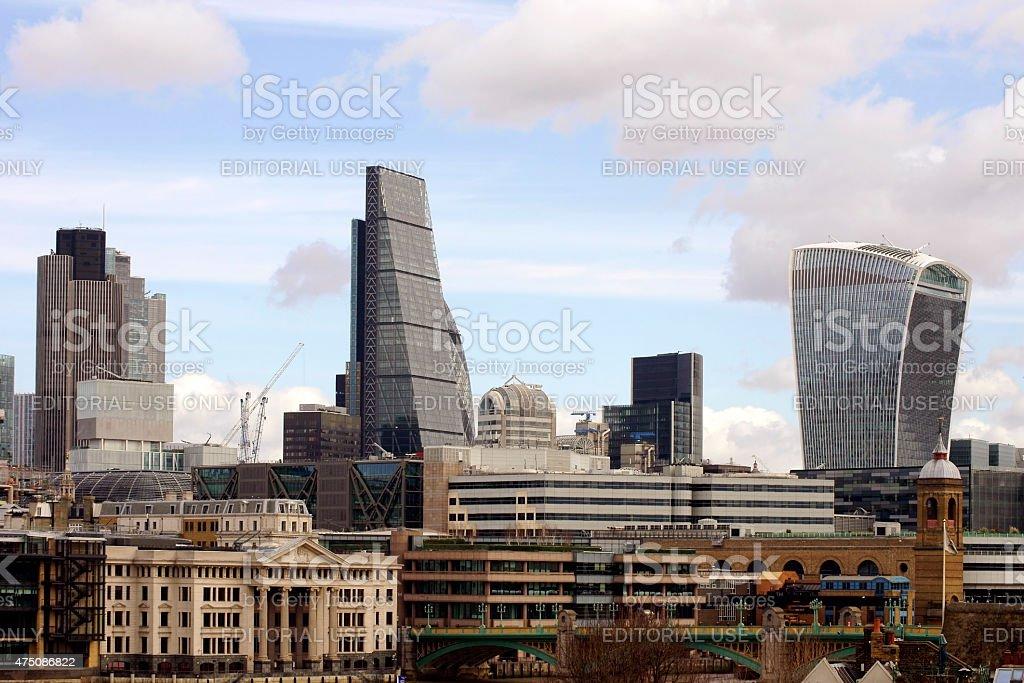 Skyline City of London stock photo