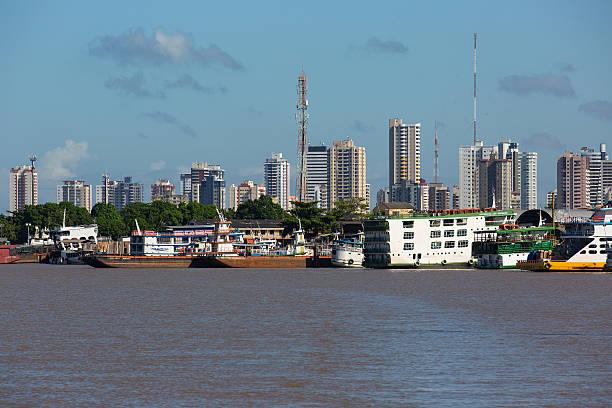 Skyline Cityscape Belém, Pará State, Brazil stock photo