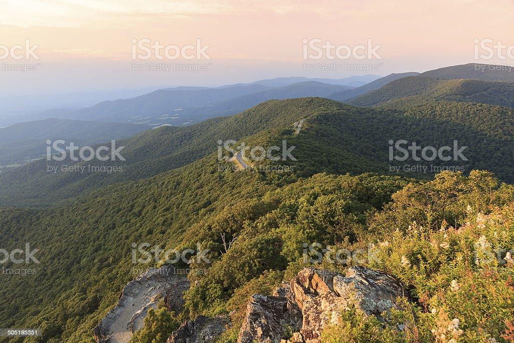 Skyline Drive and Shenandoah National Park stock photo