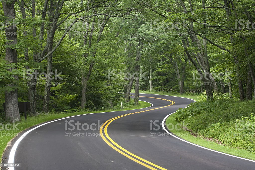 Skyline Drive, Shenandoah National Forest, Virginia stock photo