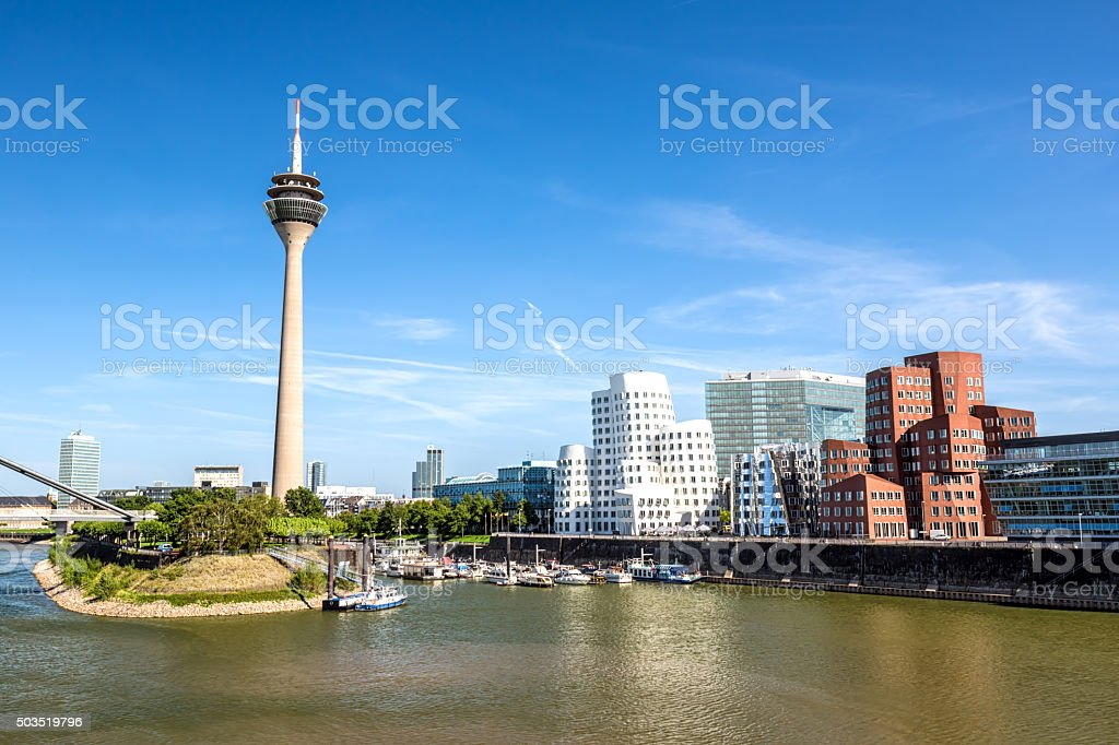 Skyline Düsseldorf stock photo