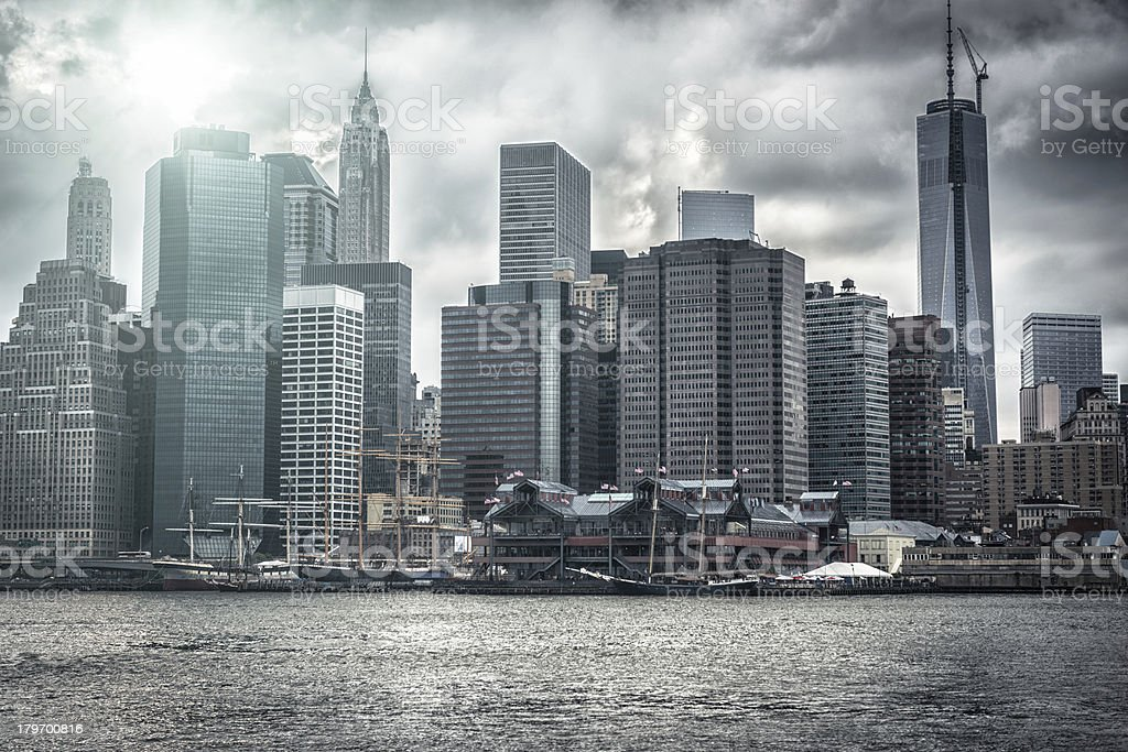 NYC skyline east river royalty-free stock photo