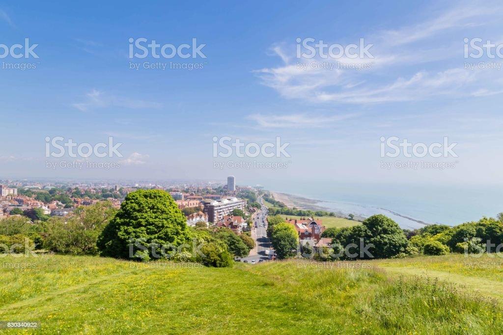 Skyline van Eastbourne, Sussex, Verenigd Koninkrijk foto