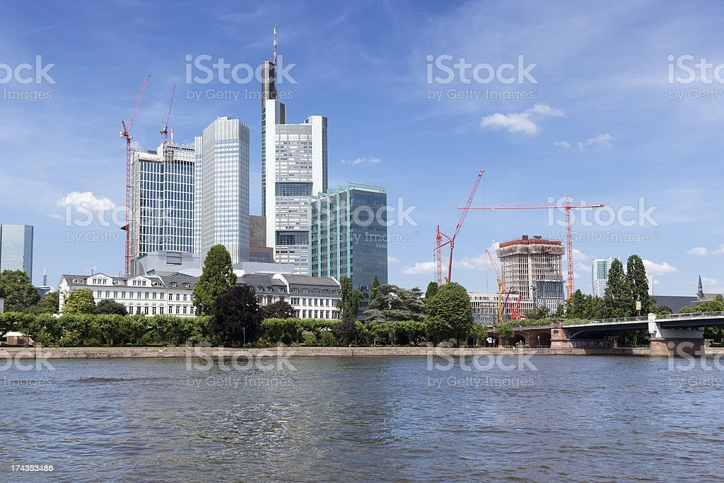 Skyline Frankfurt, Germany royalty-free stock photo