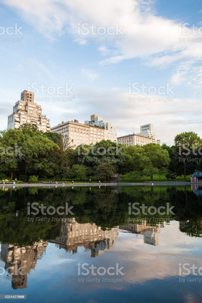 NYC skyline from Central Park stock photo