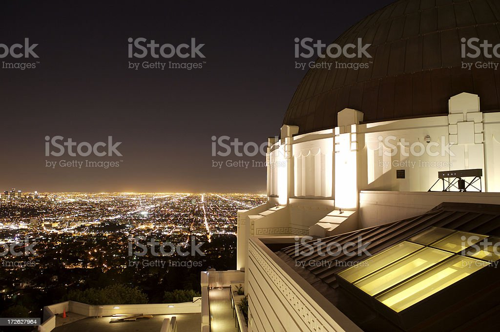 LA Skyline from Griffith Observatory royalty-free stock photo