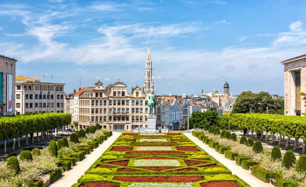 Skyline in Brussels stock photo