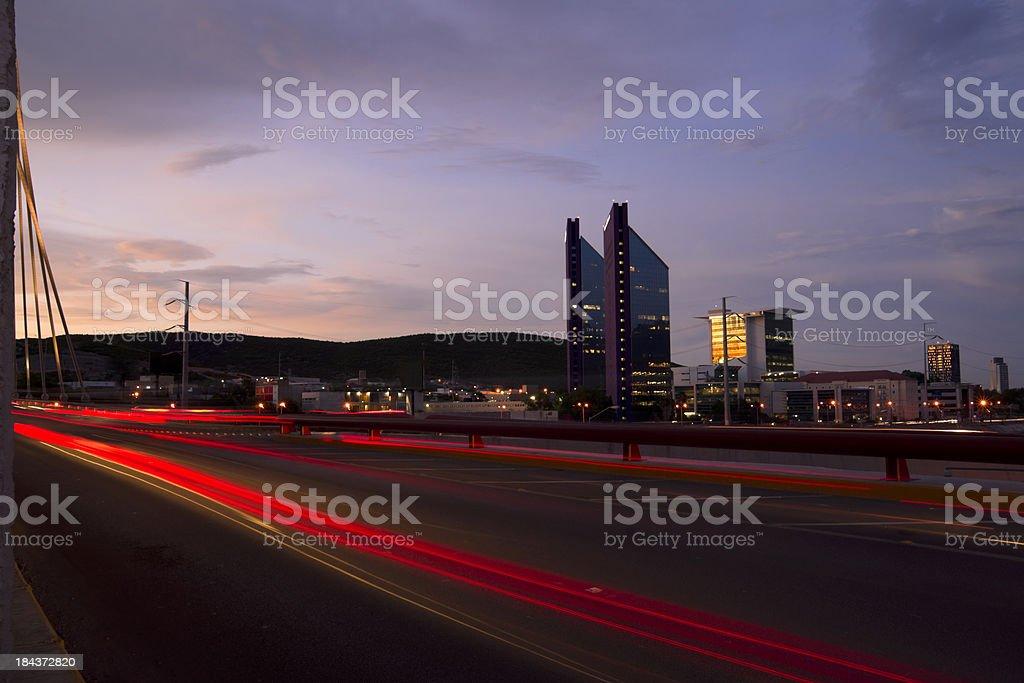 Skyline in Monterrey stock photo