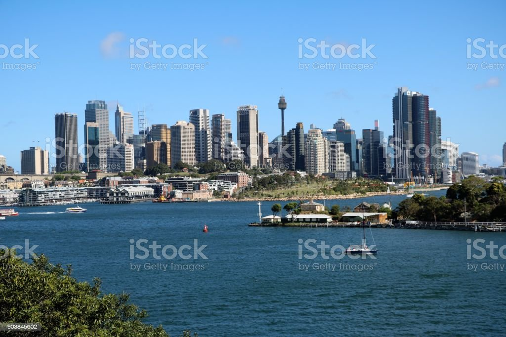 Skyline in Sydney, New South Wales Australia stock photo