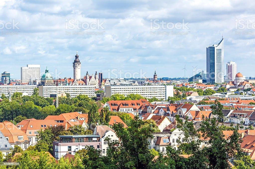 Skyline der Stadt Leipzig - Lizenzfrei 2015 Stock-Foto