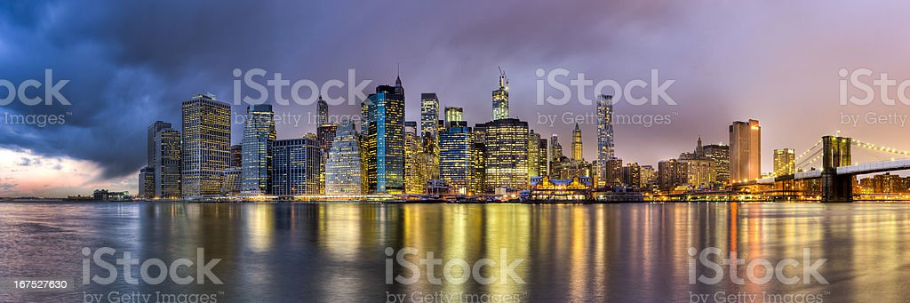 skyline manhatten royalty-free stock photo