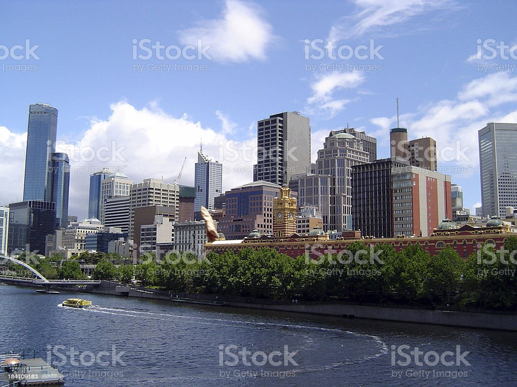 Skyline - Melbourne, Australia royalty-free stock photo