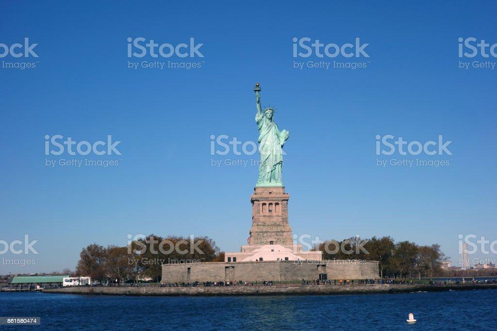 Skyline New York Manhattan Hudson River USA City stock photo