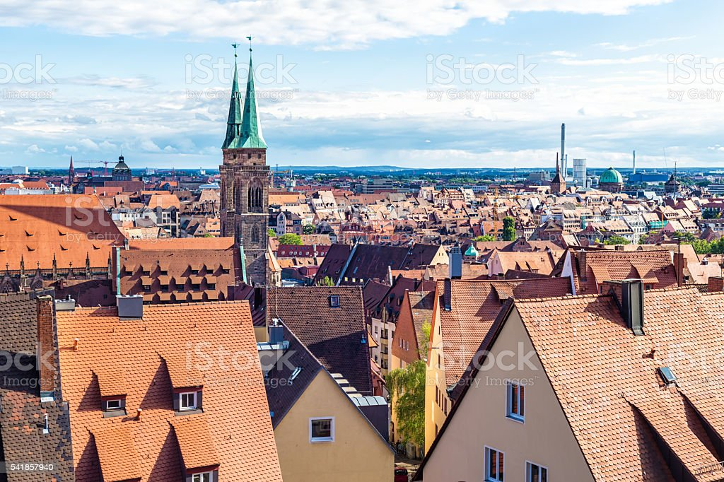 Skyline Nuernberg stock photo