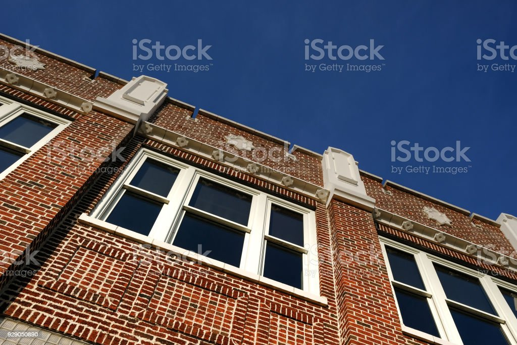 Skyline of a Restored Building stock photo
