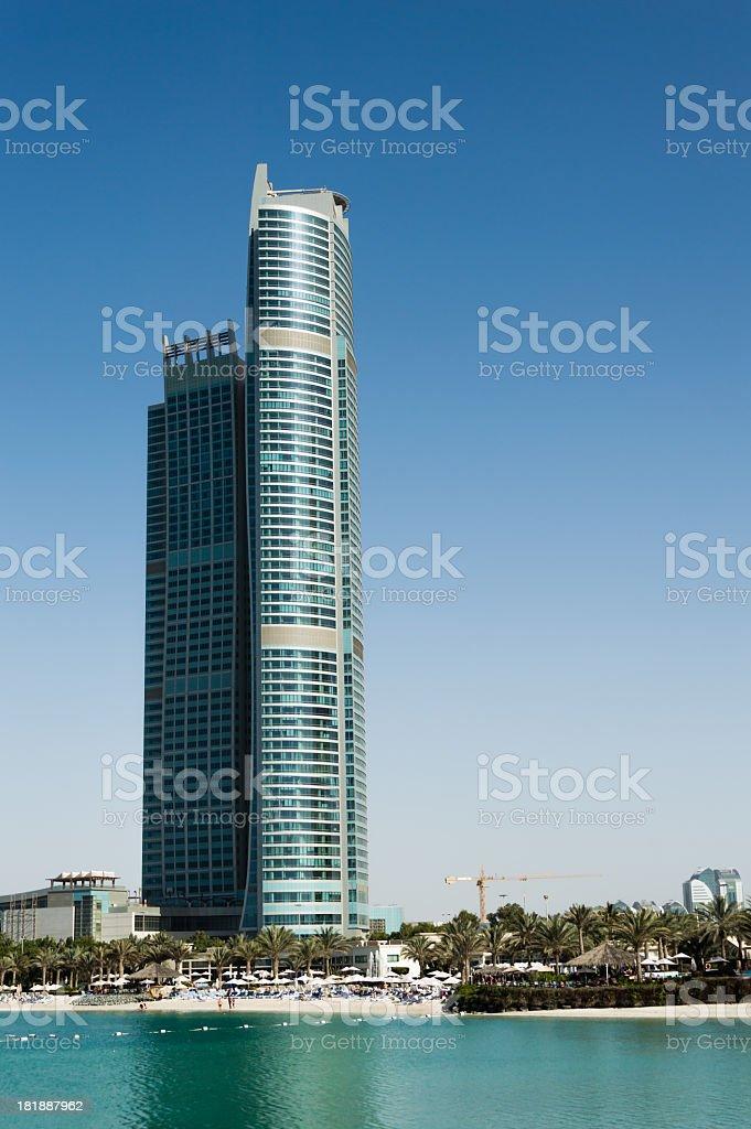 Skyline of Abu Dhabi royalty-free stock photo
