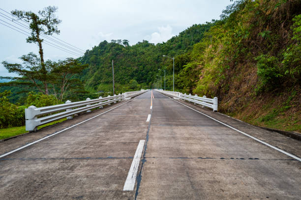 Skyline of Agas Agas Bridge in Leyte, Philippines