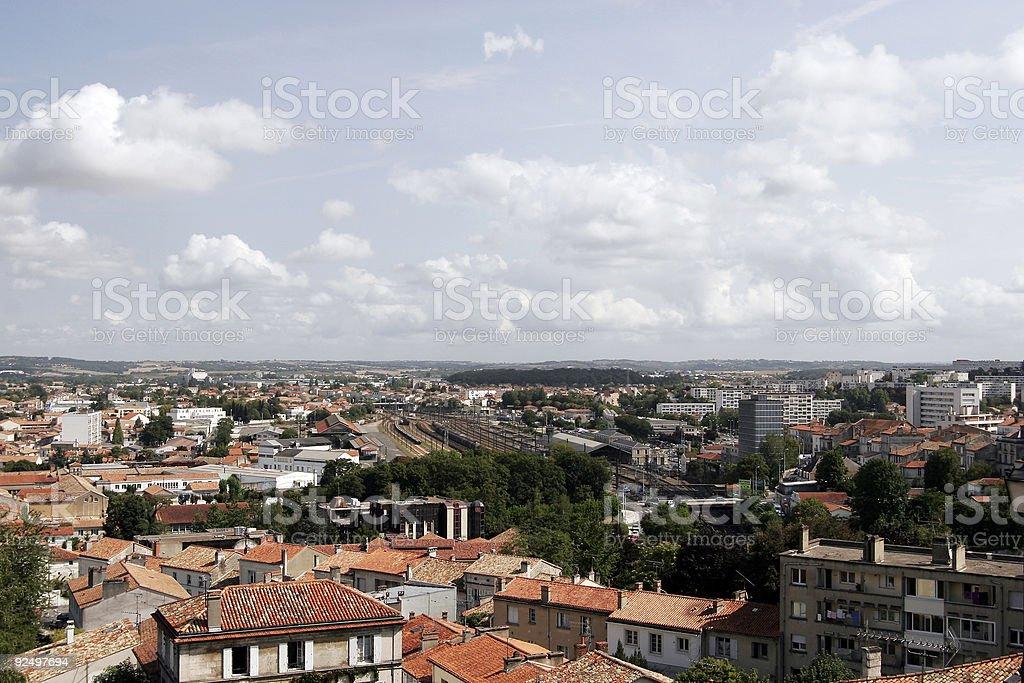 Skyline of Angoulême, France royalty-free stock photo