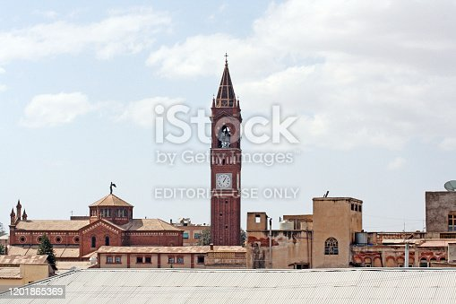 istock Skyline of Asmara, Eritrea, with the Church of Our Lady of the Rosary in the foreground 1201865369