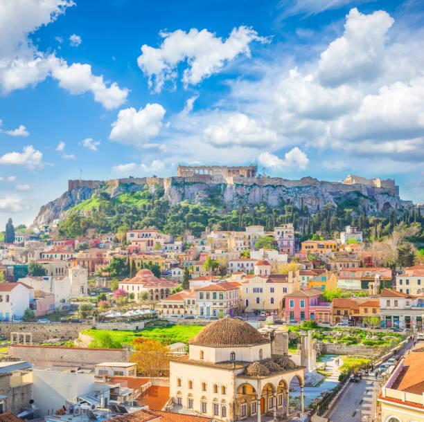 Skyline von Athenth mit Akropolis – Foto