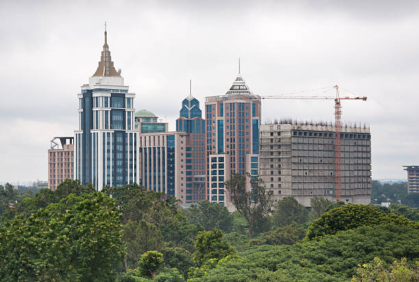 Skyline of Bangalore, India on overcast day A view of downtown Bangalore bangalore stock pictures, royalty-free photos & images