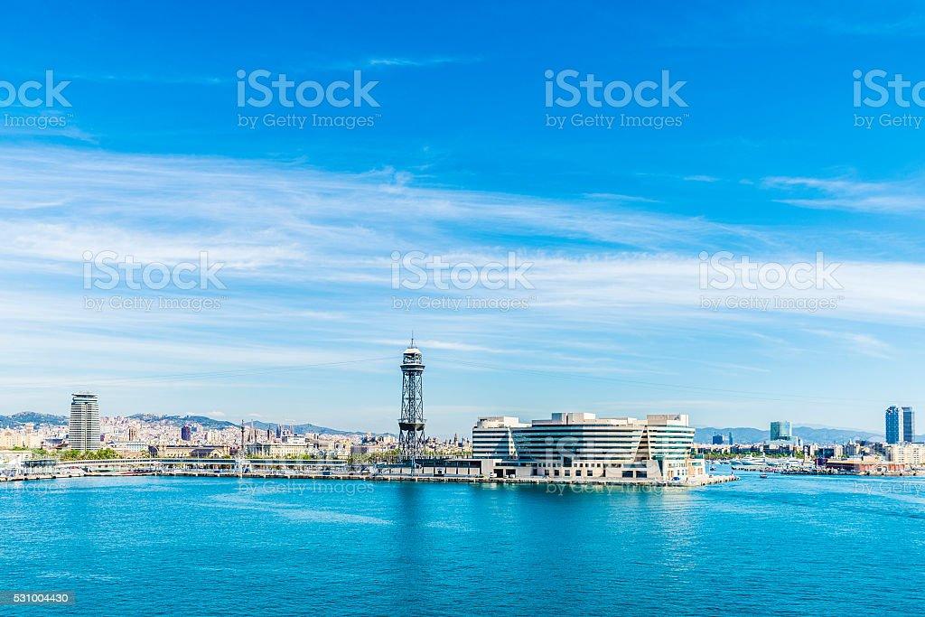 Skyline of Barcelona stock photo
